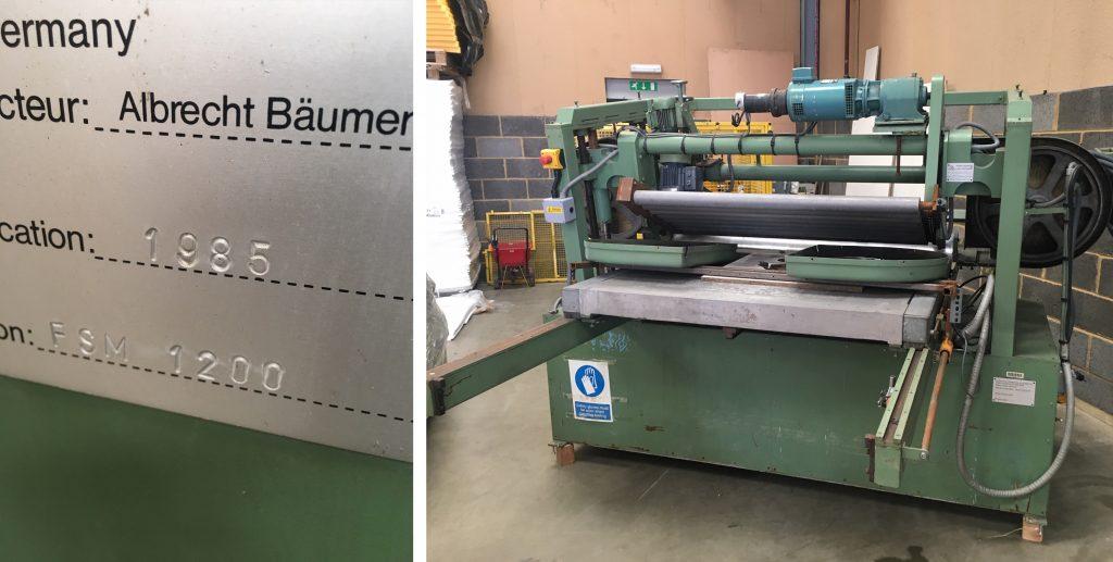 old baumer foam cutting machine